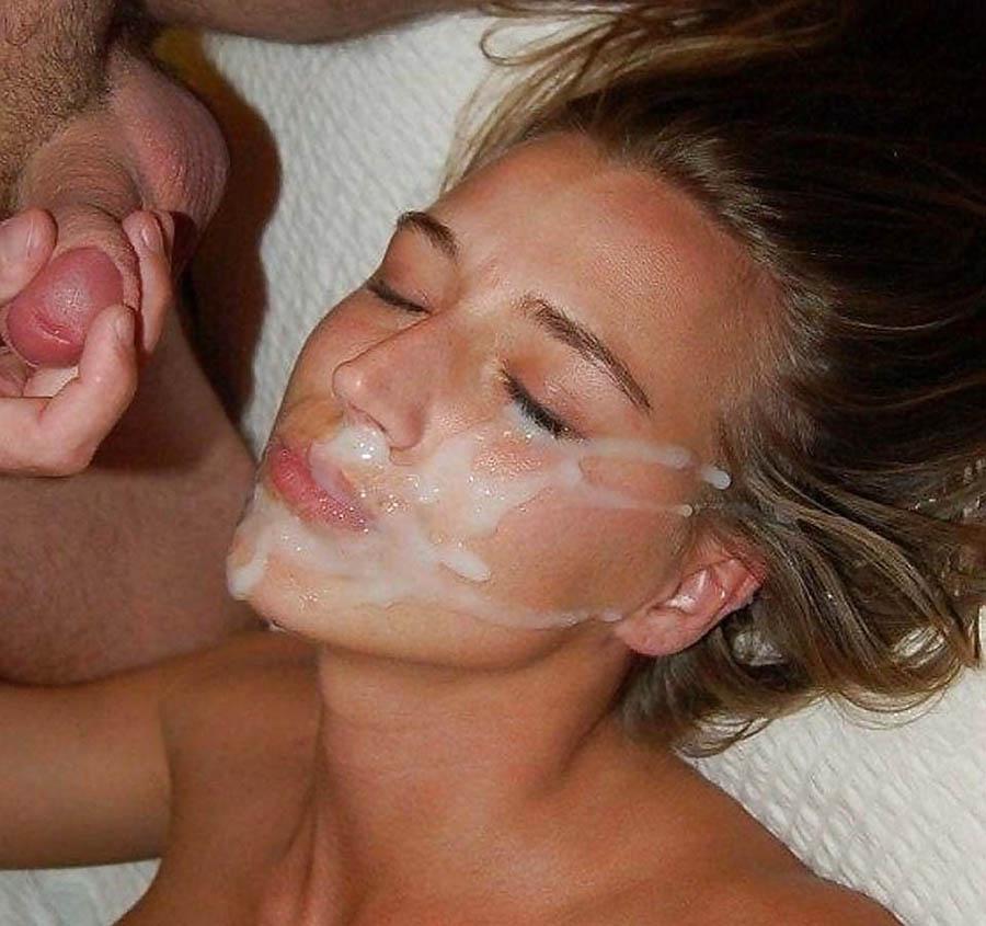 Spermasprut i ansiktet